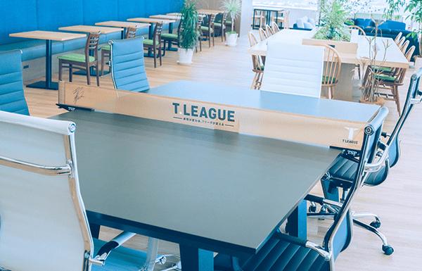 本社への卓球台の設置