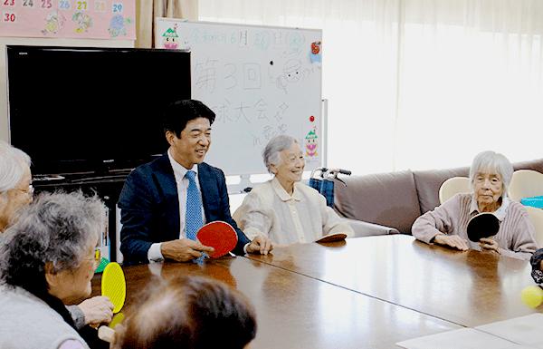 元チェアマン松下浩二氏による卓球イベント